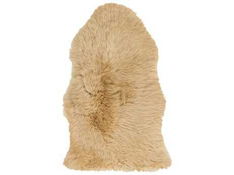 Surya Sheepskin Rectangular Gold Area Rug SYSHS9601REC