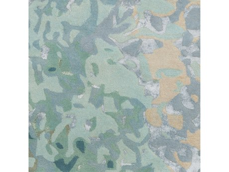 Surya Remarque Teal / Ice Blue Sage Square Sample