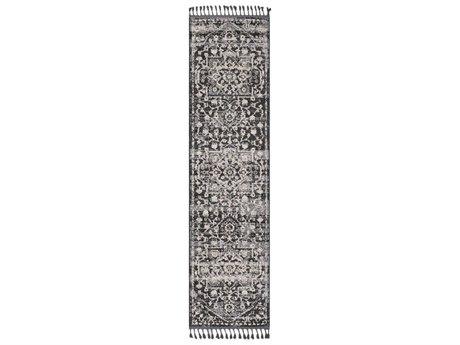Surya Restoration Light Gray / Charcoal Black Cream Taupe Medium Runner Area Rug