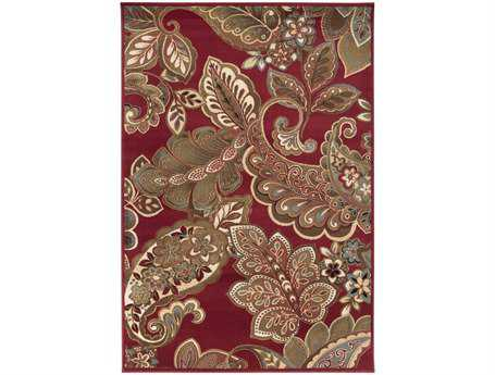Surya Riley Rectangular Red Area Rug SYRLY5020REC