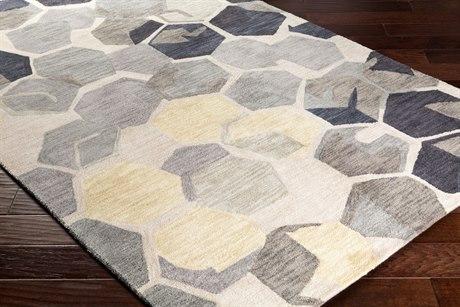 Surya Rivera Rectangular Khaki, Camel & Dark Brown Area Rug