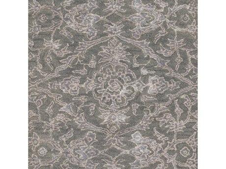 Surya Royce Dark Green / Medium Gray Khaki Square Sample