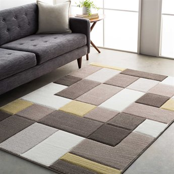 Surya Santa Monica Taupe / Dark Brown Wheat White Rectangular Area Rug