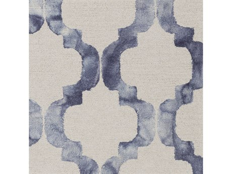 Surya Serafina Denim / Navy Ivory Square Sample