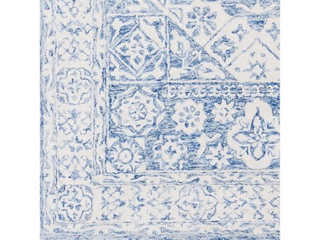 Surya Serafina Pale Blue / Ivory Square Sample