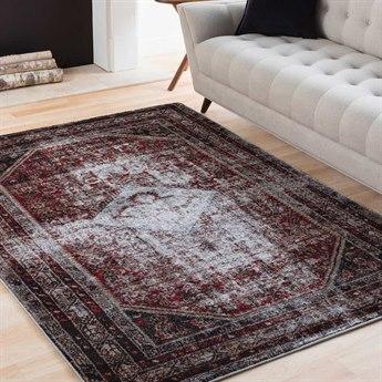 Surya Serapi Medium Gray / Black White Dark Red Tan Rectangular Area Rug