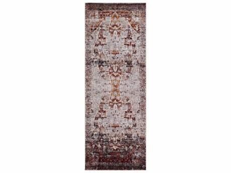Surya Serapi Dark Red / White Black Bright Orange Medium Gray Yellow Runner Area Rug