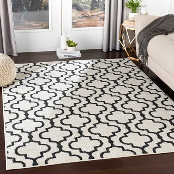 Surya Seville Black / White Rectangular Area Rug