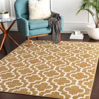 Surya Seville Tan / White Rectangular Area Rug