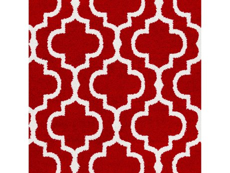 Surya Seville Bright Red / White Square Sample