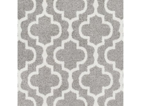 Surya Seville Medium Gray / White Square Sample