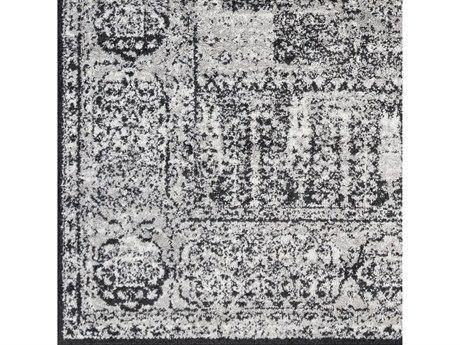 Surya Seville Black / Medium Gray White Square Sample