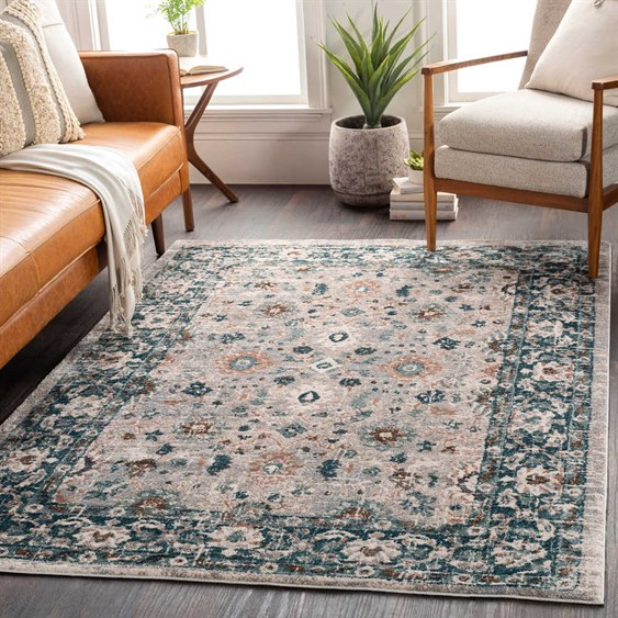 Surya Soft Touch Teal / Taupe Medium