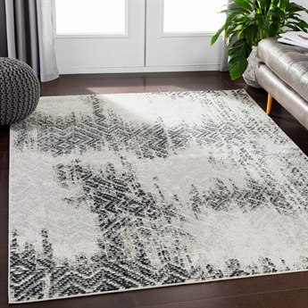 Surya Soleil Camel / Taupe White Medium Gray Cream Pale Blue Black Rectangular Area Rug