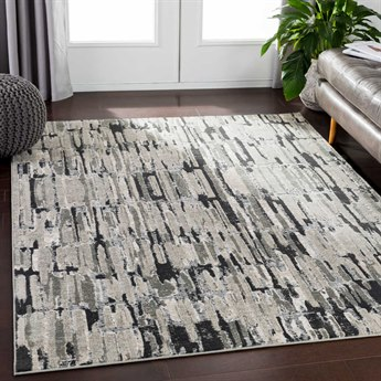 Surya Soleil Medium Gray / Taupe Camel Cream White Rectangular Area Rug