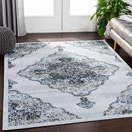 Soleil Navy / Taupe Light Gray White Medium Camel Pale Blue Rectangular Area Rug