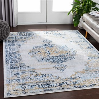 Surya Soleil Navy / White Light Gray Medium Wheat Pale Blue Rectangular Area Rug