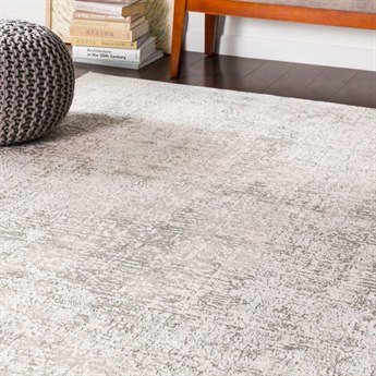 Surya Soleil Light Gray / Medium Cream Rectangular Area Rug