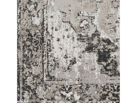 Surya Soleil Medium Gray / Taupe Camel Black White Pale Blue Square Sample