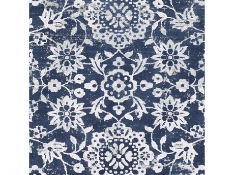Surya Soleil Navy / White Medium Gray Taupe Camel Pale Blue Square Sample