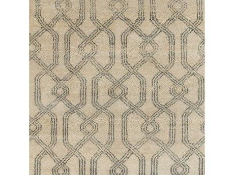 Surya Stanton Charcoal / Khaki Square Sample