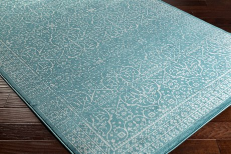 Surya Steinberger Rectangular Teal & Light Gray Area Rug