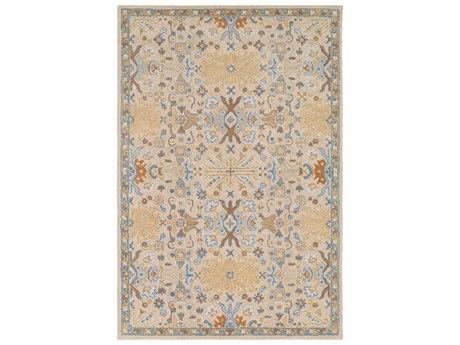 Surya Tabriz Denim / Khaki / Tan / Light Gray Rectangular Area Rug