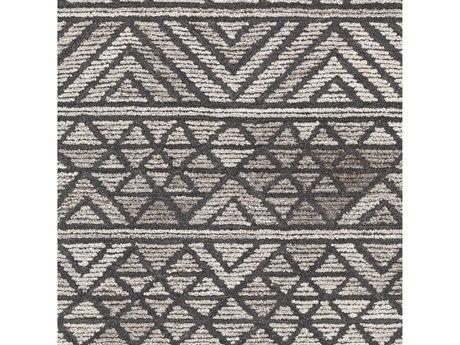 Surya Tahoma Camel / Charcoal Dark Brown White Square Sample