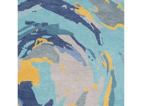 Surya Technicolor Mint / Denim Sage Navy Mustard Teal Light Gray Square Sample
