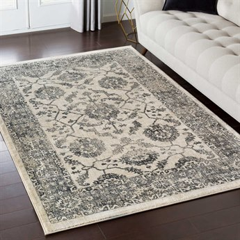 Surya Tharunaya Medium Gray / Black Khaki Cream Rectangular Area Rug