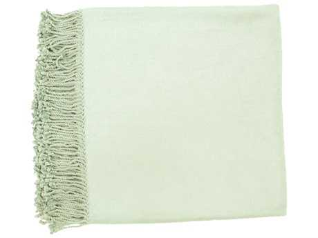 Surya Tian Tian 50'' x 67'' Sea Foam Throw SYTIA10055067