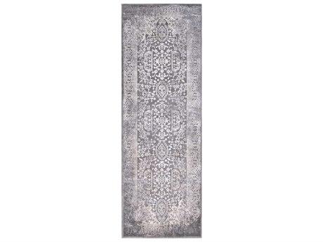 Surya Tibetan Charcoal / Ivory Khaki Medium Gray Runner Area Rug