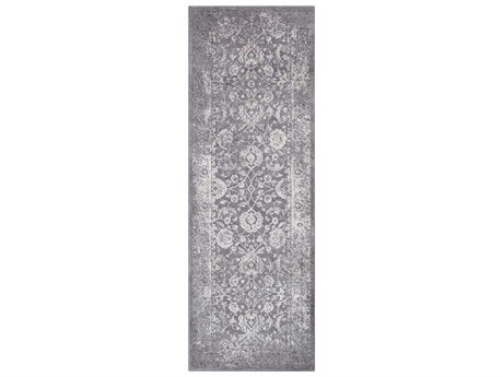 Surya Tibetan Medium Gray / Ivory Taupe Charcoal Runner Area Rug