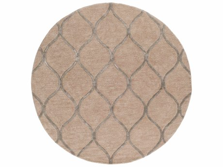 Surya Urban Taupe / Tan Medium Gray Round Area Rug
