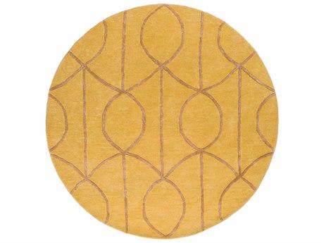Surya Urban Mustard / Camel Round Area Rug
