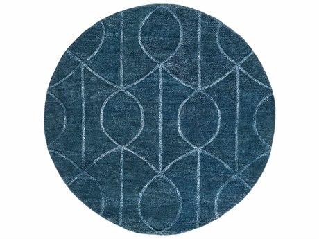 Surya Urban Navy / Pale Blue Round Area Rug