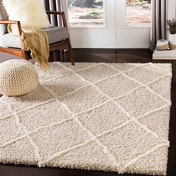 Surya Urban Shag Beige / Cream Rectangular Area Rug