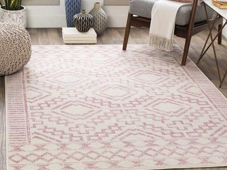 Surya Ustad Pale Pink / Cream Rectangular Area Rug