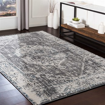 Surya Varanasi Light Gray / Medium Dark Blue Camel White Rectangular Area Rug