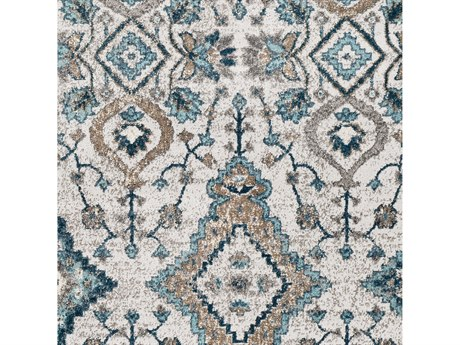 Surya Varanasi Teal / Pale Blue / Medium Gray Square Sample