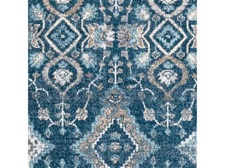 Surya Varanasi Pale Blue / Teal / Medium Gray Square Sample