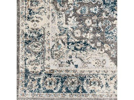 Surya Varanasi Dark Blue / Teal / Camel / Medium Gray Square Sample
