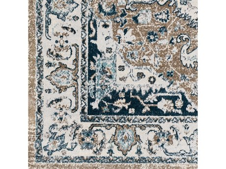 Surya Varanasi Pale Blue / Teal / Light Gray / White Square Sample