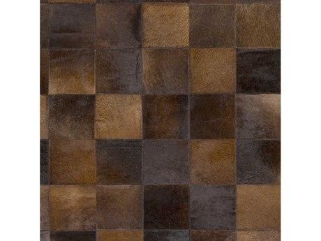Surya Vegas Dark Brown / Metallic - Champagne Square Sample