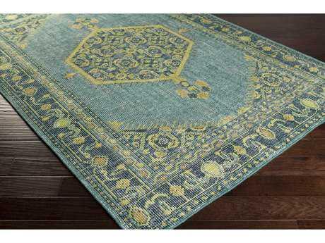 Surya Zahra Rectangular Emerald, Lime & Olive Area Rug SYZHA4027REC