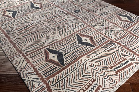 Surya Zambia Rectangular Cream, Dark Brown & Black Area Rug