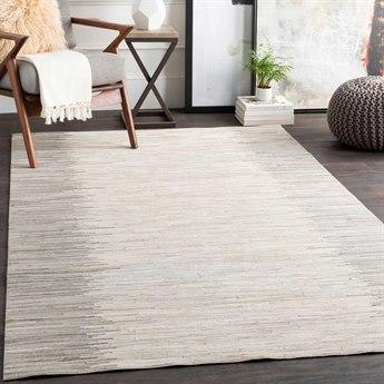 Surya Zander White / Beige Khaki Taupe Medium Gray Rectangular Area Rug