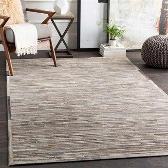 Surya Zander Medium Gray / Dark Brown Black Ivory Wheat Light Rectangular Area Rug