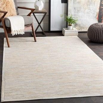 Surya Zander White / Cream Beige Taupe Rectangular Area Rug