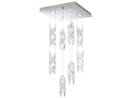 Swarovski Turns Four-Light 22'' Wide 4000K LED Pendant Ceiling Light S6TUR411